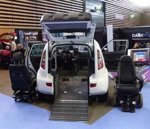 Carro próprio para cadeirantes da Kia