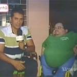 Victor Vasconcelos (à dir) com repórter da TV Diário