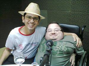 Henrique Beltrão e Victor na Rádio Universitária