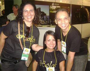 Alessandra com Soyane Vargas e Lincoln Pereira