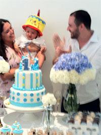 Fábio e Ana no aniversário de um ano de Antonio