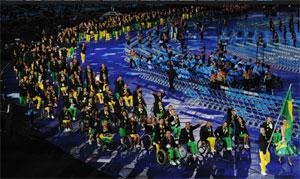 Entrada da delegação brasileira na cerimônia de abertura dos Jogos de Londres
