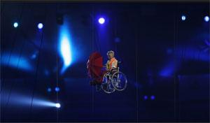 Artista cadeirante participa da Abertura dos Jogos de Londres