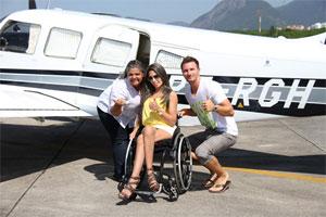 Kica de Castro (esq), Caroline Marques e Gabriele Benedetti