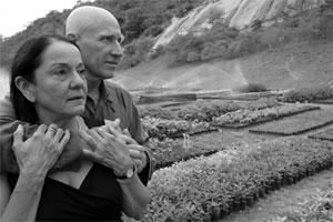 Sebastião Salgado e a pianista Lélia Wanick, casados há 36 anos