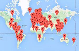 Mapa dos mais de 70 países onde será celebrado o Dia Mundial das Doenças Raras