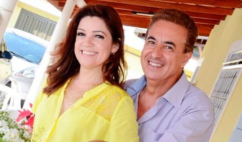 Vera Garcia ao lado do marido Hélio de Faria