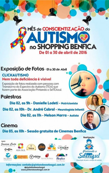 Cartaz do Dia Mundial da Conscientização do Autismo